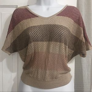 Rose gold knit top